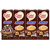 Nestle Coffee mate Coffee Creamer, Snickers, Liquid Creamer Singles, Box of 50 Singles (Pack of 4)