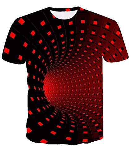 Fanient Camiseta Estampada para Hombre de Cool Graphic, Camiseta Informal Personalizada, Manga Corta
