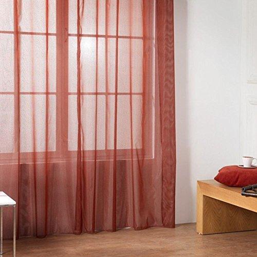 RIOMA Cortina, Tela, Rojo, 140 x 270 cm