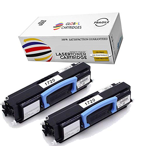 GLB Premium Quality Compatible Dell 1720 310-8709 GR332 Black Laser Toner Cartridge Replacement for Dell 1720 1720dn Printers (2- Pack)