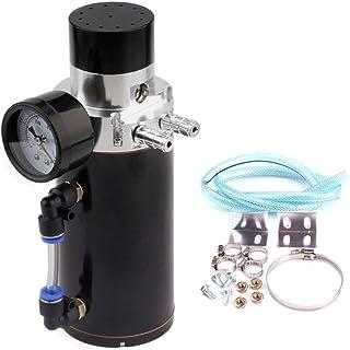Yacht navigation Aluminum Oil Catch Reservoir Breather Tank Can+Vacuum Pressure Gauge Oil Catch Tank Oil Catch Can yacht t...