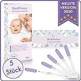 MediVinius 3, 5 oder 10 Schwangerschaftstest mit schnellem Ergebnis in unter 5 Minuten I Zuverlässige Pregnancy Test Strips I Frühtest, Hcg Test - 5 Stück