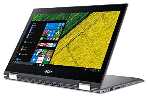Acer Spin 5 Pro (SP513-52NP-870E) 33,8 cm (13,3 Zoll Full-HD IPS Multi-Touch) Convertible Laptop (Intel Core i7-8550U, 16GB RAM, 512GB SSD, Intel UHD, Win 10 Pro) grau