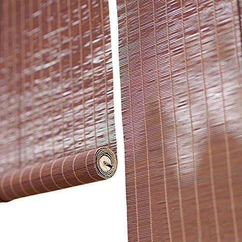 Lqqdp Estores Enrollables Persianas Enrollables de Bambú para Balcón, Persianas Enrollables Pergola Retro para Exteriores, para Ventana Patio Jardín/Tirador Lateral, 60/80/100/120/140 cm
