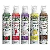 Olio extravergine di oliva e aromatizzati spray (5 flaconi da 250 ml)-Con lo spray risparm...