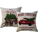 vintage christmas pillows