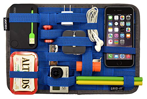 COCOON GRID-IT!, Organizer Medium, 12' x 8', Custodia Protettiva 2 in 1, Configurazione Varia degli Accessori, 30x20 cm, Blu