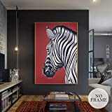 wtnhz Sin Marco HD Nordic Zebra Canvas Paintings Modern Oil Painting Animal Posters and Prints Home Derco Wall Art Pictures para Sala de Estar