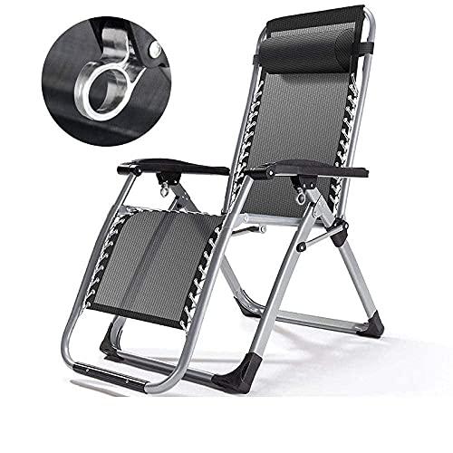 FHISD Silla de exterior Zero Gravity, reclinable de jardín de color puro, reclinable portátil de gravedad cero, tumbona plegable y silla de camping