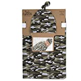 Soft Cotton Baby Swaddle Wrap Blanket with Matching Hat or Headband Cap Set for Newborns and Infants (Camo)