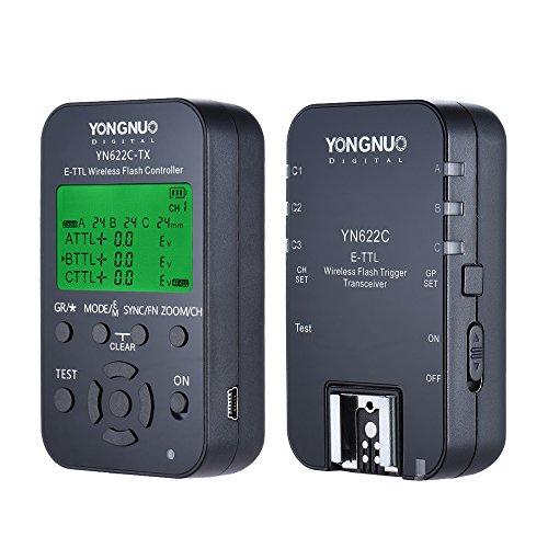 Yongnuo yn622C-kit Kabellose Fernbedienung 100M E-TTL Flash Trigger Transceiver Paar KIT für Canon EOS Serie DSLRs