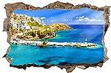 Hafen Schiffe Griechenland Kreta Wandtattoo Wandsticker Wandaufkleber D0461 Größe 40 cm x 60 cm