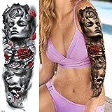 Handaxian Etiqueta engomada Impermeable del Tatuaje de la Manga del Brazo Grande 3pcs Calamar Loto 3pcs-2