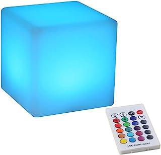 BLUEYE Cordless LED Cube&Ball Night Light 4-Inch White BC204