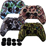 MXRC Silicone Rubber Cover Skin case Anti-Slip Water Transfer Customize Camouflage for Xbox One/S/X Controller...