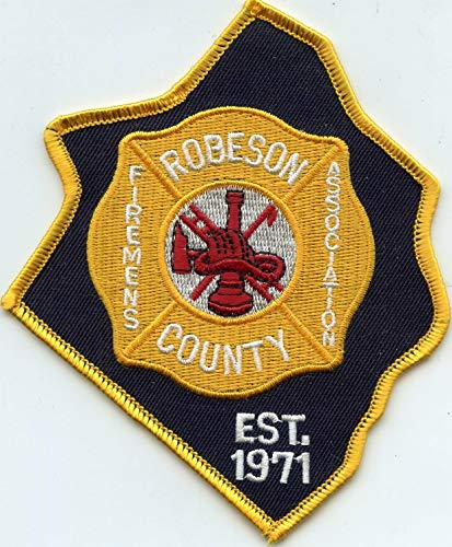 Embroidered Patch - Patches for Women Man - Robeson County North Carolina NC County Shaped Firemens Association FIRE