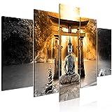 murando Cuadro en Lienzo Buda 200x100 cm Impresión de 5 Piezas Material Tejido no...