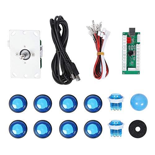 Board Arcade Kit, 28/24 Beleuchteter Knopf 5P 3D Kassettenwippe Single Kit Grünes USB Core Board für Arcade Spiele mit Hoher Verschleißfestigkeit