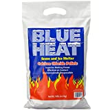 Blue Heat Snow and Ice Melter Rock Salt - 10lbs Bag - Heat Generating Pellets - Concrete a...