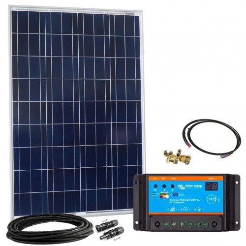 Offgridtec Solar Bausatz 100 wp - 12 V Solaranlage, Solarmodul und Victron Blue Solar 10A PWM Solarladregler, 002640