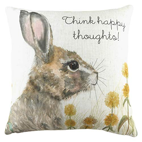 Evans Lichfield Woodland Hare Thoughts Polyester Filled Cushion, Multi, 43 x 43cm