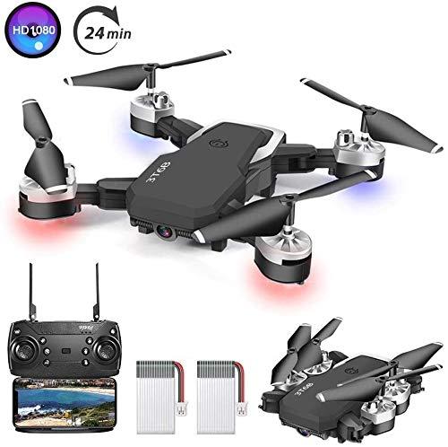 3T6B Drone avec Camera,1080P HD 4K Pixels, Quadricoptère de Vol Portable de 20-24 Minutes, équipé...
