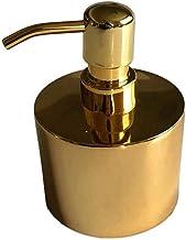 Zeeppomp Moderne ronde gouden Lotion Fles kleine metalen navulbare vloeibare handzeep Dispenser Pump Fles for Keuken Badka...