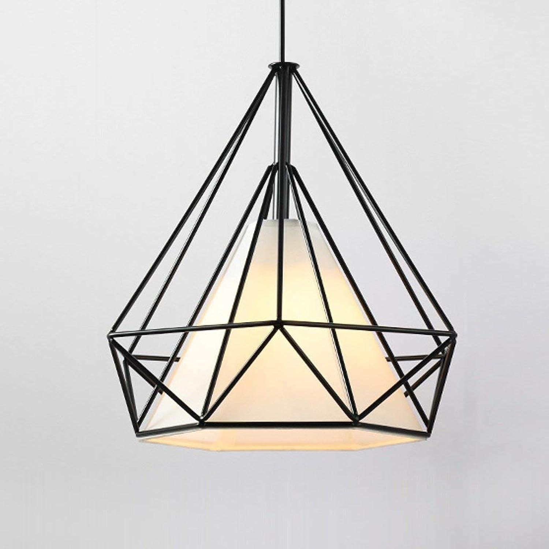 Arts Créatifs Simple Cage Fer Scandinave Rural Américain Tête Simple Chambre Restaurant étude Diamond Lampe Murano (Taille  M)