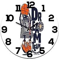 壁掛け時計、サイレントクォーツ時計ロボットラウンドデジタルアクリル時計の家族の背景時計 YAOHONG (Color : B)