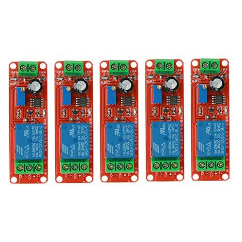 JVJ 5X NE555 1 Kanal DC 12V Verzögerungs Relais Schild Timer Schalter Einstellbares Modul Delay Timer für Arduino