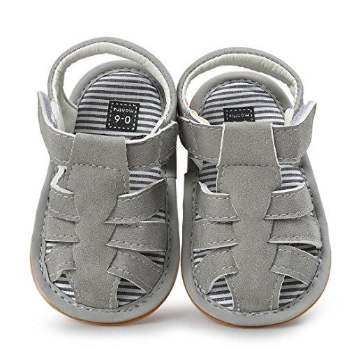 ルテンズ(Lutents )乳児靴 サンダル ストライプ マジックテープ  履きやすい キッズ 女の子 男の子