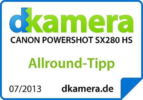 Canon PowerShot SX 280 HS Digitalkamera (12 MP, 20-Fach Opt. Zoom, 7,6cm (3 Zoll) LCD-Display, bildstabilisiert) schwarz