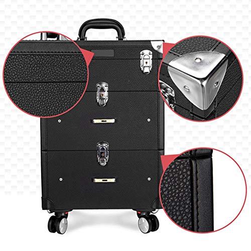 HZXLL Trolley make-up ijdelheid gevallen, ijdelheid gevallen Geweldig voor bagage, nail art koffer doos sieraden stand nagellak items voor Nail Design