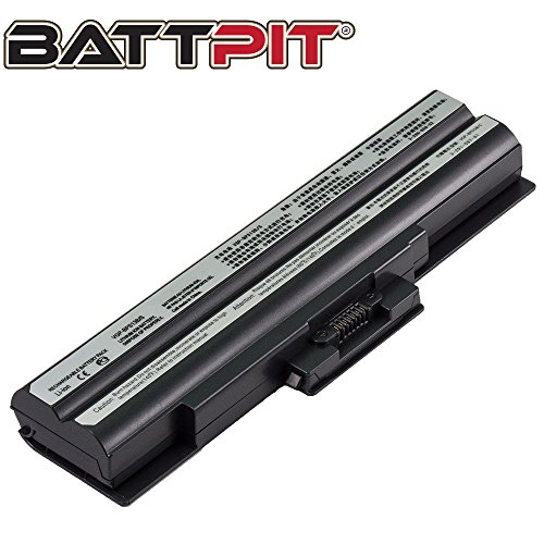 BattPit Batteria per Portatile Sony VGP-BPL13 VGP-BPL13A VGP-BPL13A/Q VGP-BPS13 VGP-BPS13A/B VGP-BPS13/S VGP-BPS13B/B VGP-BPS13/Q VGP-BPS13A/S - [6 Celle/4400mAh/49Wh]