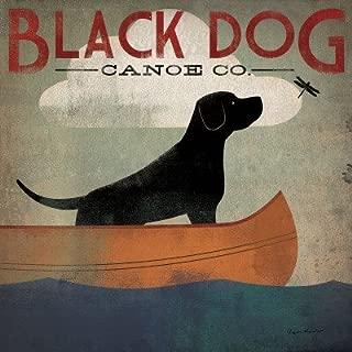 Black Dog Canoe - Poster by Ryan Fowler (12 x 12)