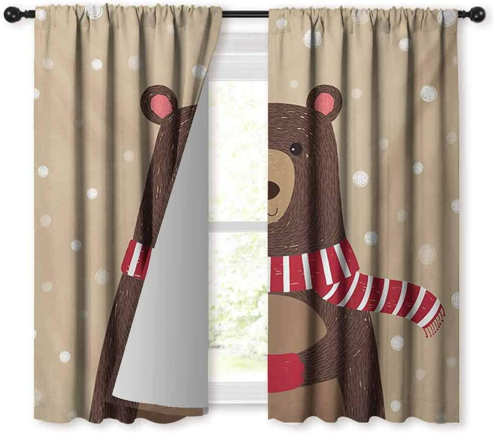 Doodle Bedroom windproofcurtain Complation of Various Office Gadgets Recorder Tv Laptop Monitor Tablet Switch Mouse 70/%-80/% Light Shading 2 Panels,63 Wx63 L Multicolor