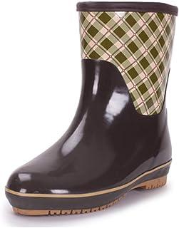 a41cfc03 Fengbingl-shoe Zapatos de Lluvia Bota de Lluvia para Mujer Zapatos de  jardín Cortos Sencilla
