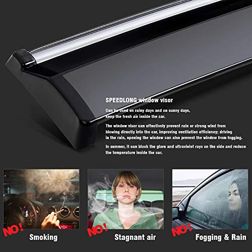 SPEEDLONG Car Window Visor Vent Shade Deflector Sun/Rain/Fog Guards Compatible with Lexus LX 570 2016-2020 17 18 19