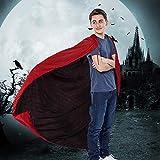 Kbnian Reversibel Halloween-Umhang Vampir-Dracula-Umhang Kostüm Schwarz & Rot (120cm)