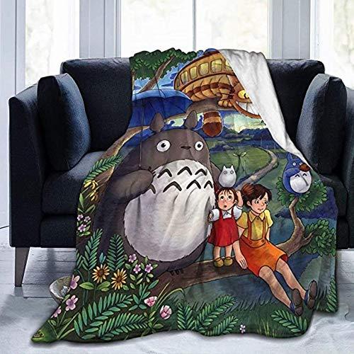 HSBZLH Manta Bebe Niña Totoro Throw Blanket Manta Cálida Felpa Ultra Suave para Sofá Cama Y Sa Estar Idea Regalo Large 80X60 In For Adults