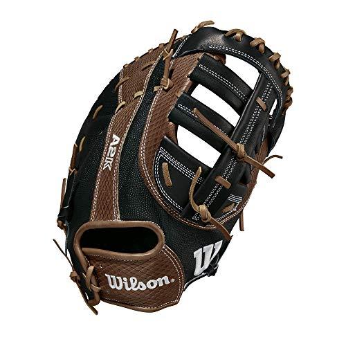 """Wilson A2K 2820 SuperSkin 12.25"""" Baseball First Baseman Mitt - Right Hand Throw"""