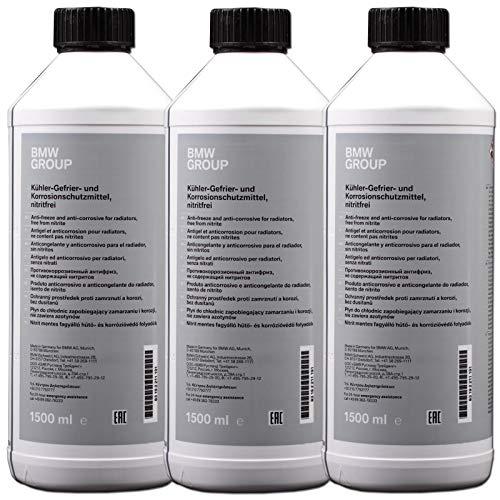 4,5 litros de líquido anticongelante concentrado original OEM referencia 83192211191 (tres botes de 1,5 litros) color azul / verde
