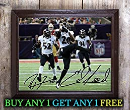 Ray Lewis Ed Reed American Football Autographed Signed 8x10 Photo Reprint #64 Special Unique Gifts Ideas Him Her Best Friends Birthday Christmas Xmas Valentines Anniversary Fathers Mothers Day