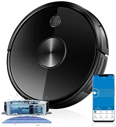 Proscenic Saugroboter Wi-Fi & Alexa Steuerung, 2200Pa Starke Saugleistung, Superdünn, 500ML -Staubbehälter, Roboterstaubsauger mit Ladestation, Magnetband