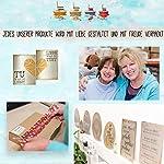 Logbuch-Verlag 50 cartons de table en papier kraft marron imprimé avec dentelle blanche - décoration cartes pour inscrire de noms - style vintage élégant - marriage anniversaire #2