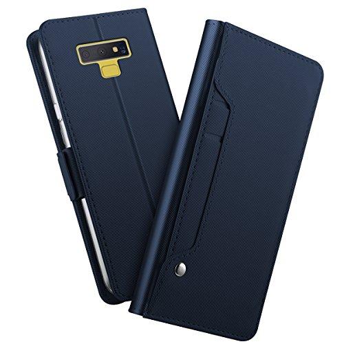 BasicStock Custodia Samsung Note 9, Ultra Sottile Morbido Pu Pelle Case Portafoglio con Carta Fessura, Funzione Stand, Chiusura Magnetica, Stile...