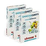 Virosac - Ghiaccio Cubetti - Sacchetti per la realizzazione di cubetti di ghiaccio, confezioni da 10 fogli, kit da 3 confezioni