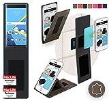 reboon Hülle für BlackBerry Priv Tasche Cover Case Bumper   Braun Wildleder   Testsieger