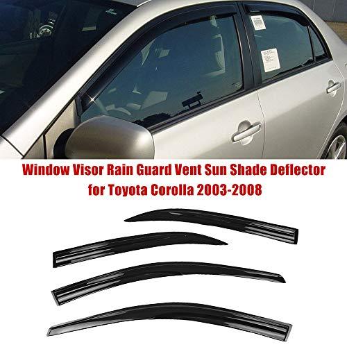 Fensterblende Regenschutz Vent Sun Shade Deflector f/ür Dodge Ram 1500 2009-2018