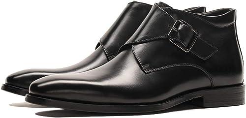botas Chelsea de cuero de los hombres alto-Top Martin botas de trabajo de negocios y seguridad botines casual cremallera-up zapatos de los hombres